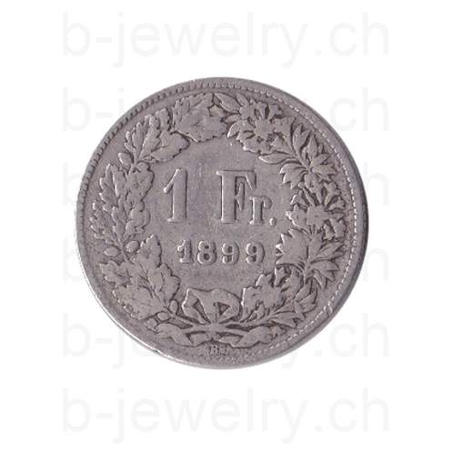 1 Franken 1899 Schweiz Silber Silbermünze