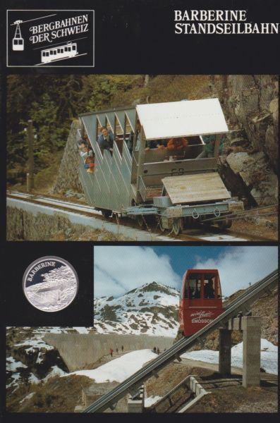 Barberine Standseilbahn - Bergbahnen der Schweiz - Silber Medaille