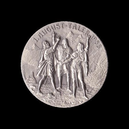 1. August Taler 1983 Silber Tells Sprung