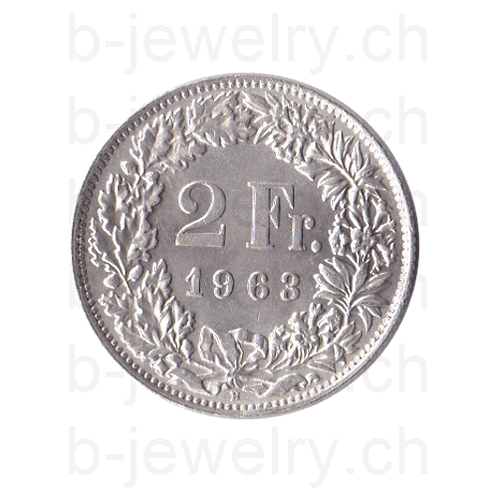 2 Franken 1963 Schweiz Silber Silbermünze