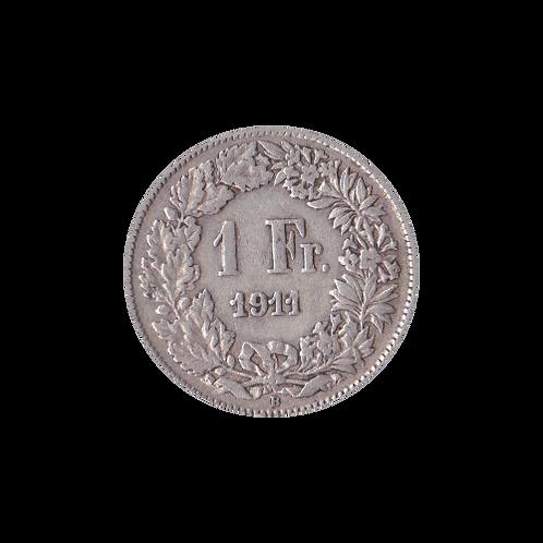 1 Franken 1911 Schweiz Silber Silbermünze