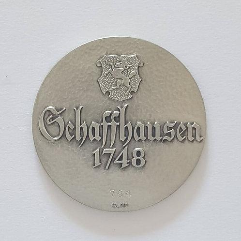 Silbermedaille Schaffhausen 1748