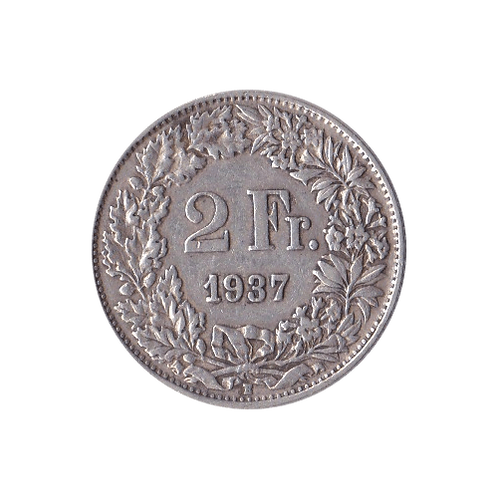 2 Swiss Francs silver 1937