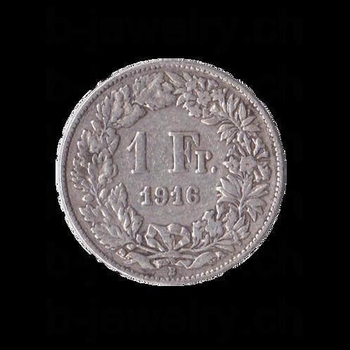 1 Franken 1916 Schweiz Silber Silbermünze
