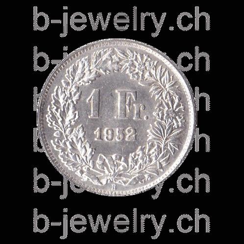 1 Franken 1952 Schweiz Silber Silbermünze