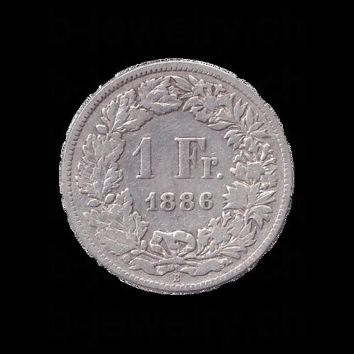 1 Franken 1886 Schweiz Silber Silbermünze
