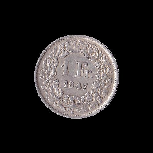 1 Franken 1947 Schweiz Silber Silbermünze