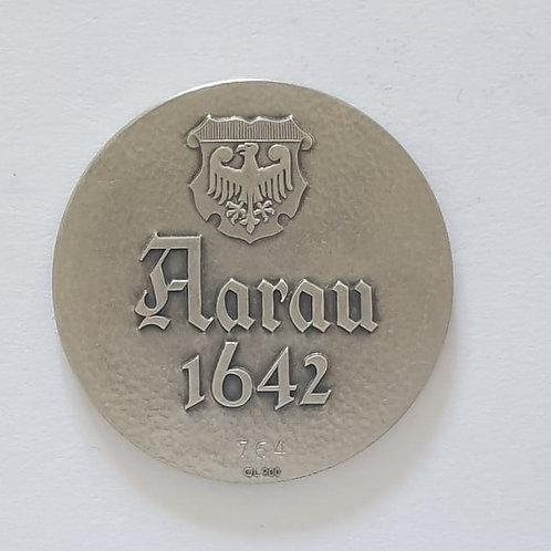 Silbermedaille Aarau 1642