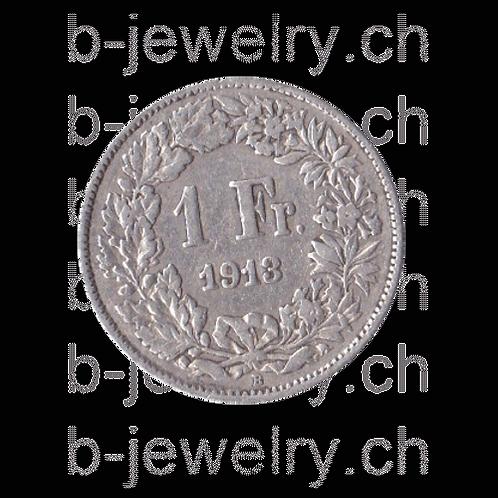 1 Franken 1913 Schweiz Silber Silbermünze
