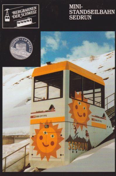 Mini Standseilbahn Sedrun - Bergbahnen der Schweiz - Silber Medaille