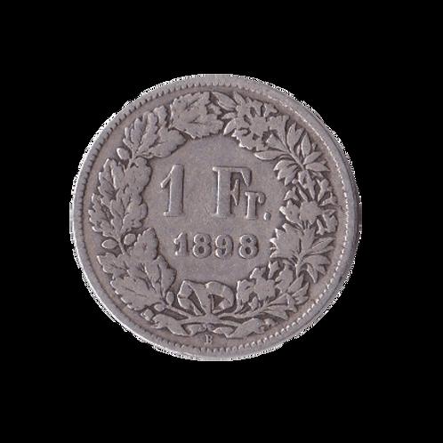 1 Franken 1898 Schweiz Silber Silbermünze
