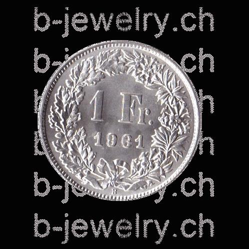 1 Franken 1961 Schweiz Silber Silbermünze