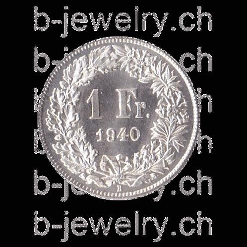 1 Franken 1940 Schweiz Silber Silbermünze
