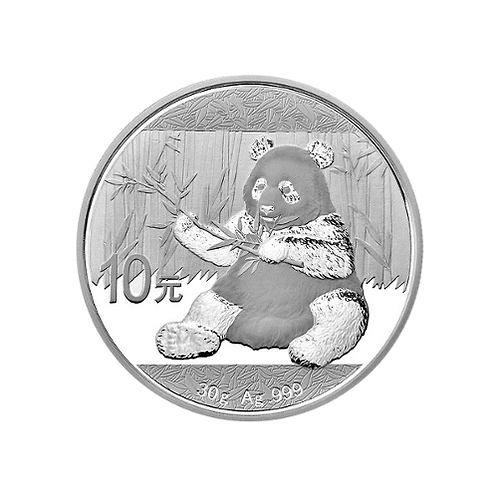 1 oz Silbermünze Panda China 10 Yuan Unze2013