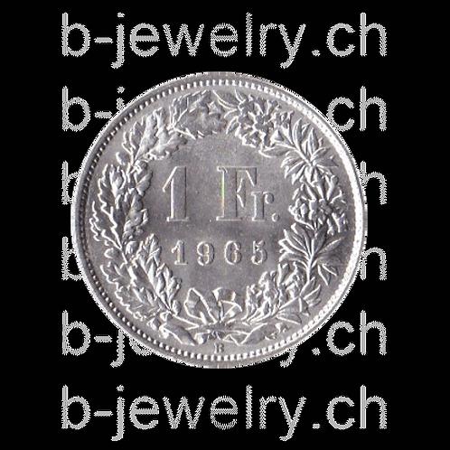 1 Franken 1965 Schweiz Silber Silbermünze