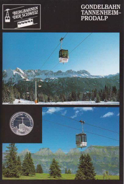 Gondelbahn Tannenheim Prodalp - Bergbahnen der Schweiz - Silber Medaille