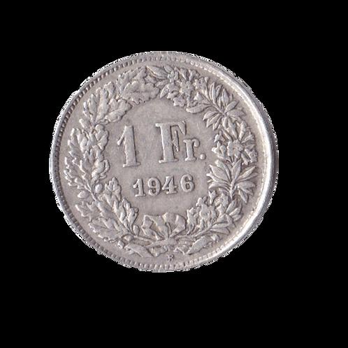1 Franken 1946 Schweiz Silber Silbermünze