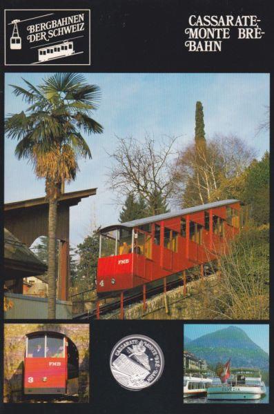 Cassarate Monte Brè Bahn - Bergbahnen der Schweiz - Silber Medaille