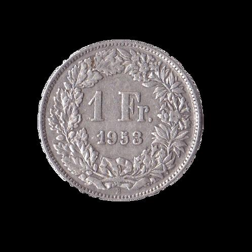 1 Franken 1953 Schweiz Silber Silbermünze