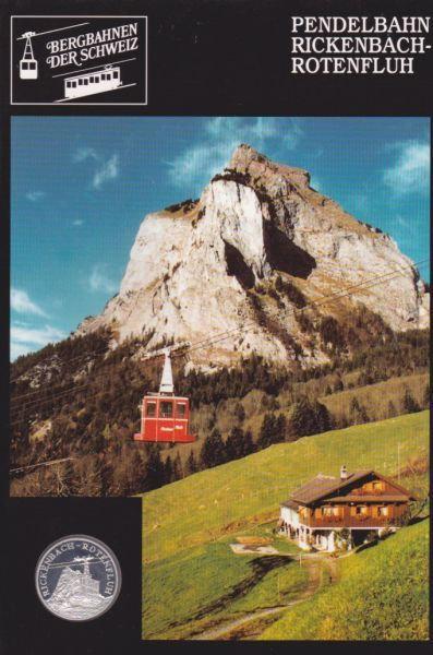 Pendelbahn Rickenbach Rotenfluh - Bergbahnen der Schweiz - Silber Medaille