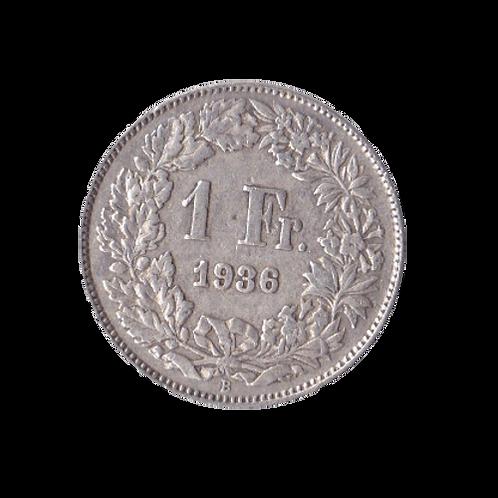 1 Franken 1936 Schweiz Silber Silbermünze
