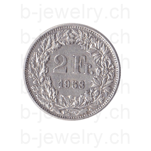 2 Franken 1953 Schweiz Silber Silbermünze