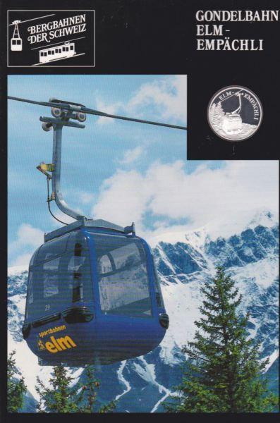 Gondelbahn Elm Empächli - Bergbahnen der Schweiz - Silber Medaille