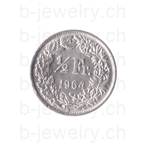 50 Rappen 1964 Schweiz Silber Silbermünze