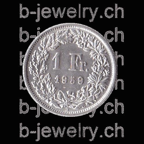 1 Franken 1959 Schweiz Silber Silbermünze