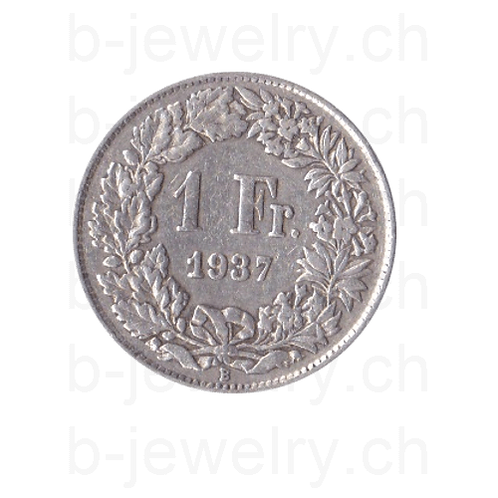 1 Franken 1937 Schweiz Silber Silbermünze