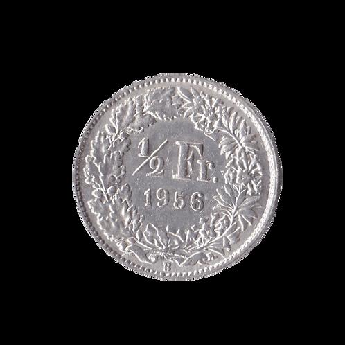 50 Rappen 1956 Schweiz Silber Silbermünze