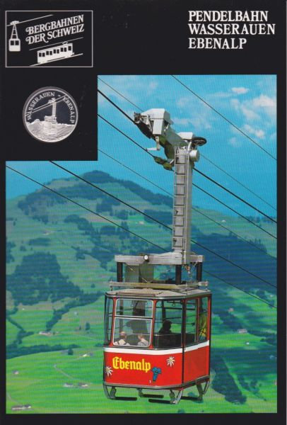 Pendelbahn Wasserauen Ebenalp - Bergbahnen der Schweiz - Silber Medaille