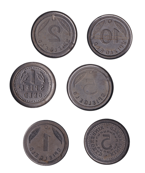 6 Prägestempel Spielgeld Kindergeld Präge Stempel Medaillen Münzen