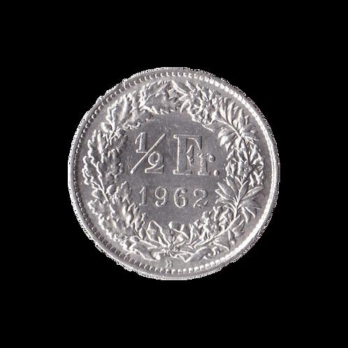 50 Rappen 1962 Schweiz Silber Silbermünze