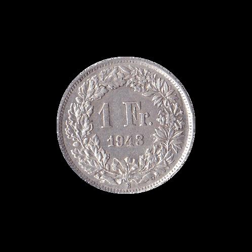 1 Swiss Franc silver 1943