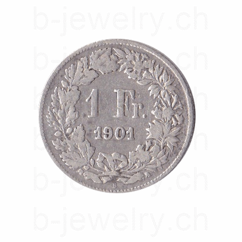 1 Franken 1901 Schweiz Silber Silbermünze