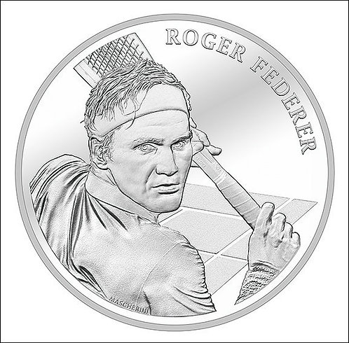 Roger Federer Münze Coin Silber