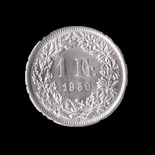 1 Franken 1956 Schweiz Silber Silbermünze