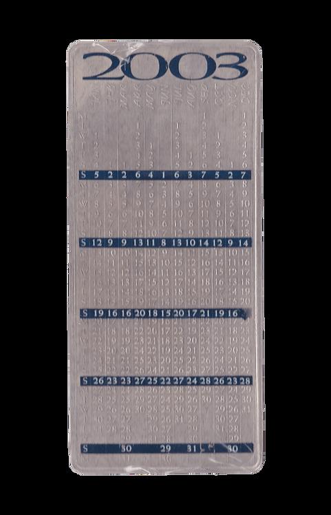 100g Silberbarren Pamp Kalender Calendar 2003 Silber