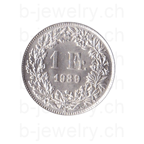 1 Franken 1939 Schweiz Silber Silbermünze