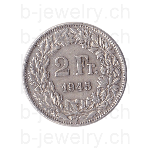 2 Franken 1945 Schweiz Silber Silbermünze