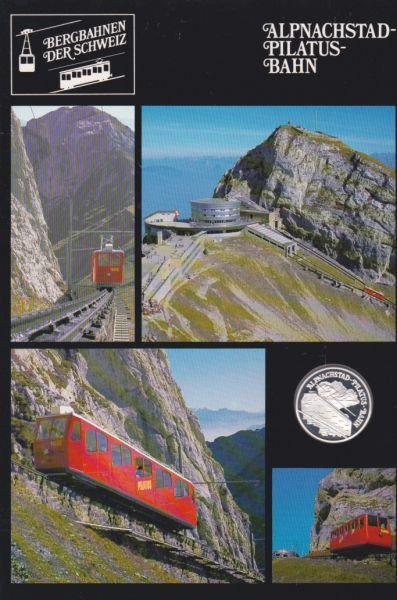 Alpnachstad Pilatus Bahn - Bergbahnen der Schweiz - Silber Medaille