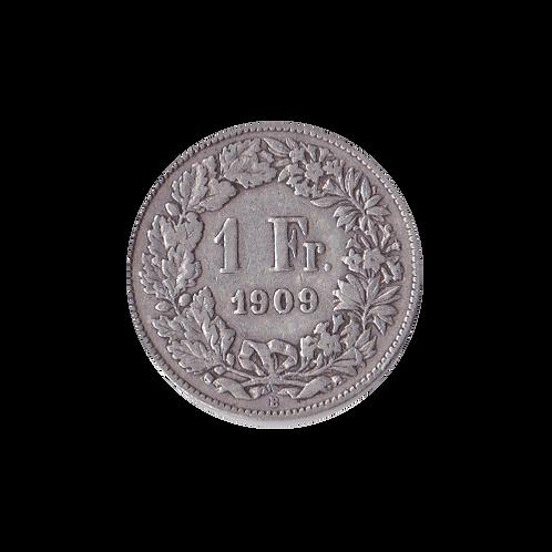 1 Franken 1909 Schweiz Silber Silbermünze