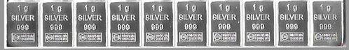 10x 1g Silberbarren CombiBar ESG / Heimerle + Meule