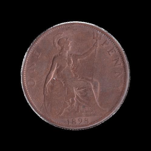 One Penny 1898 UK England