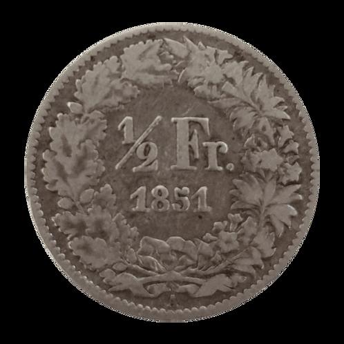 50 Rappen 1851 Vorderseite