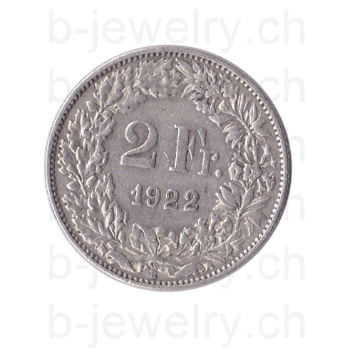 2 Franken 1922 Schweiz Silber Silbermünze