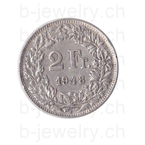 2 Franken 1948 Schweiz Silber Silbermünze