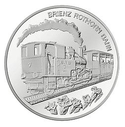 20 Franken Gedenkmünze 2009 Brienz Rothornbahn Silber