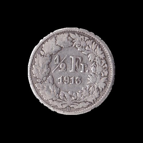 50 Rappen 1913 Schweiz Silber Silbermünze